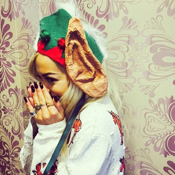 Rita Ora has started wearing her Christmas jumper. Have you got yours? http://lookm.ag/G1SB1X