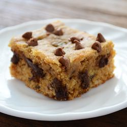 Whole Wheat Choc Chip Cookie Bars