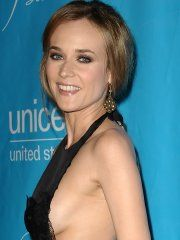 #Diane #Kruger shows side boob wearing black dress at the 2011...