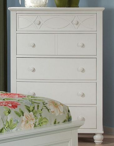 Homelegance Sanibel Collection White Chest of Drawers 2119W-9
