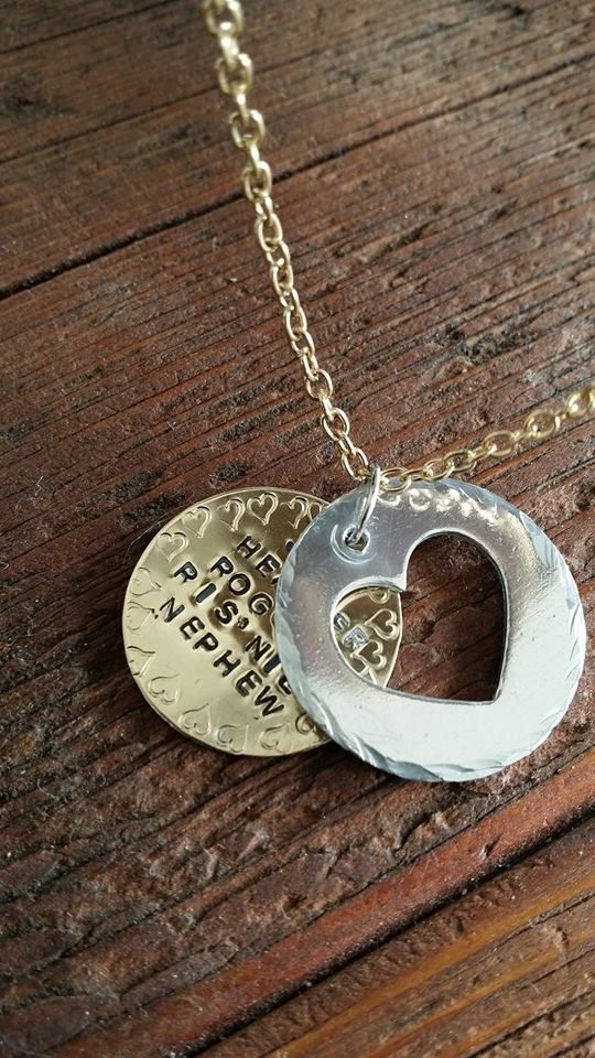 Sterling Silver Heart with Gold Filled Disc stamped