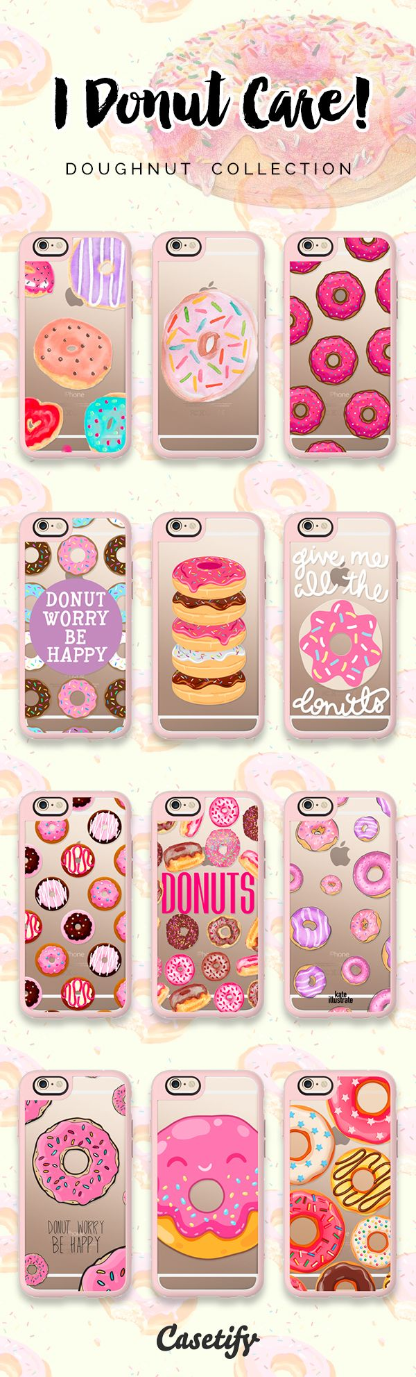 Top 12 doughnut iPhone 6 protective phone cases | Click through to shop these iPhone phone case designs >>> https://www.casetify.com/artworks/Uj5MPPHvZ3 #food | @casetify