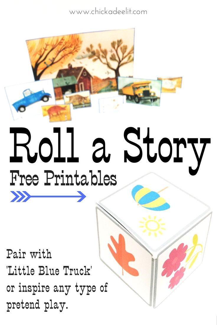 roll a story fun with little blue truck reading activitiestoddler - Toddler Activities Printables