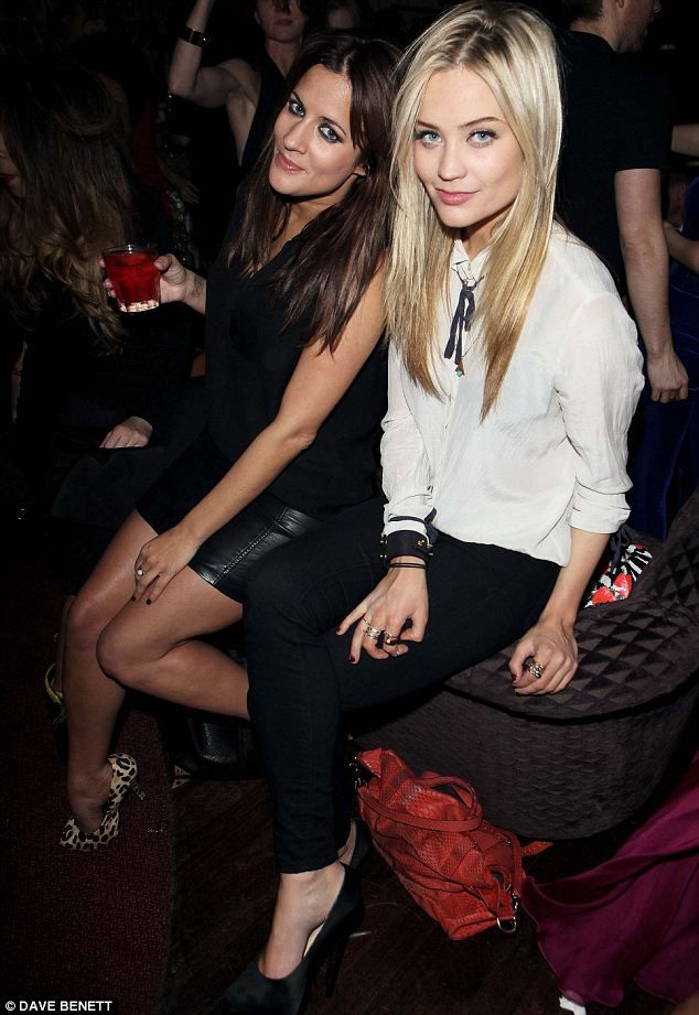 TV gals: Caroline Flack and Laura Whitmore looked like they managed to have a good catch up at the party