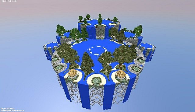 Fountain City Floating Islands In The Void Minecraft