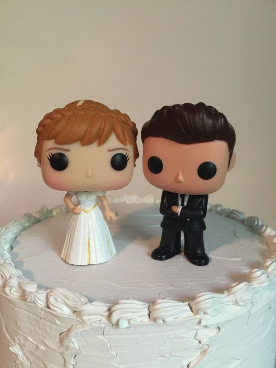 EverAfterProducts on Etsy Anna and Groom Funko Pop Wedding Cake Topper Set Disney's Frozen for $44.99