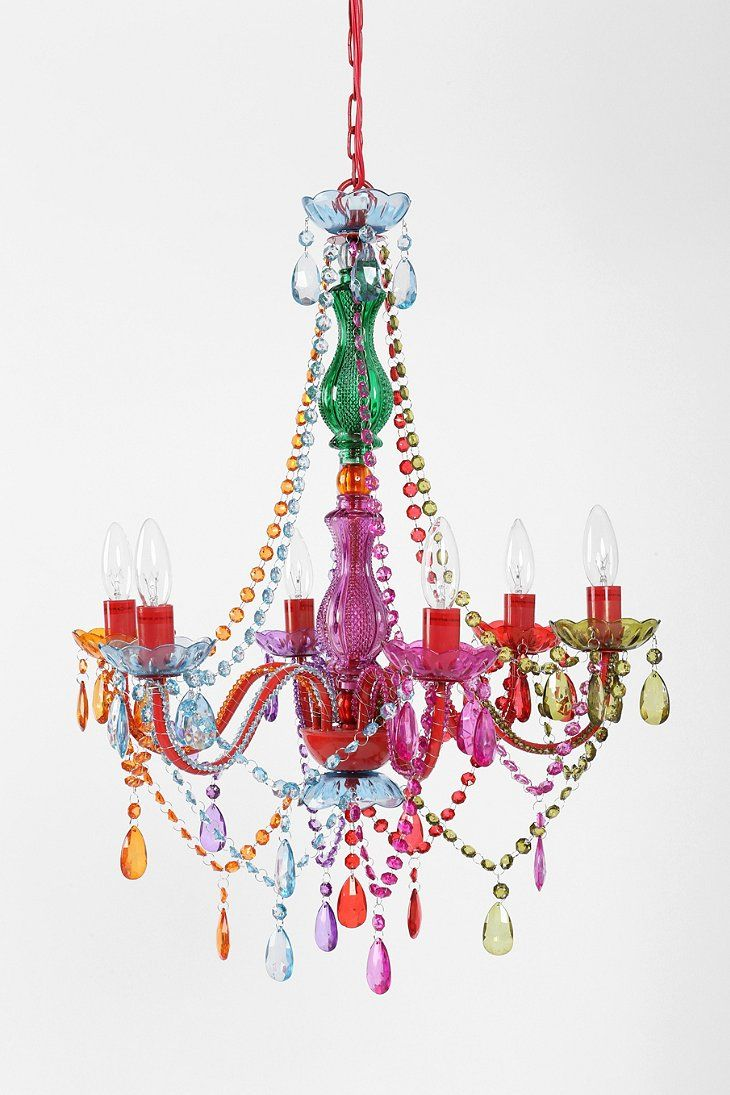 83 best chandeliers images on pinterest chandeliers chandelier large rainbow chandelier urban outfitters playroom or girls room arubaitofo Choice Image