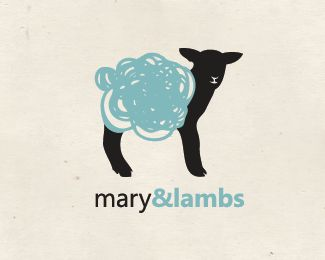 Mary & Lambs Organic Wool Farmer logo by Aylen Garcia: Logo re-branding project for Mary and Lambs, an Australian based wool farming company whose commitment is being 100% organic by practicing proper care of livestock, implementing harmless production techniques and processing technologies.