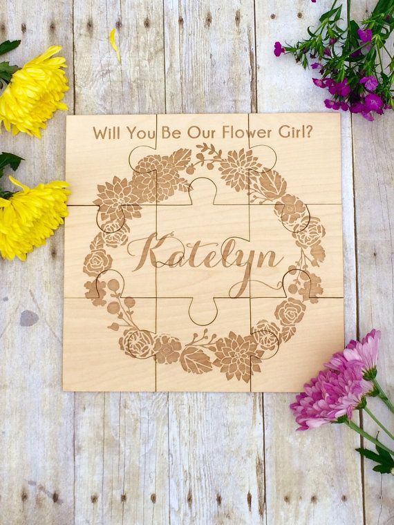 Flower Girl Gift Personalized Puzzle by UrbanFarmhouseTampa