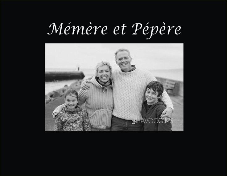 """Mémère et Pépère 4""""x6"""" Photo Frame"""