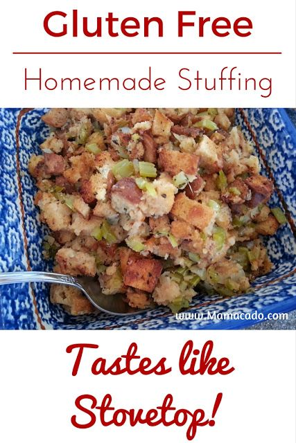 Gluten free homemade stuffing