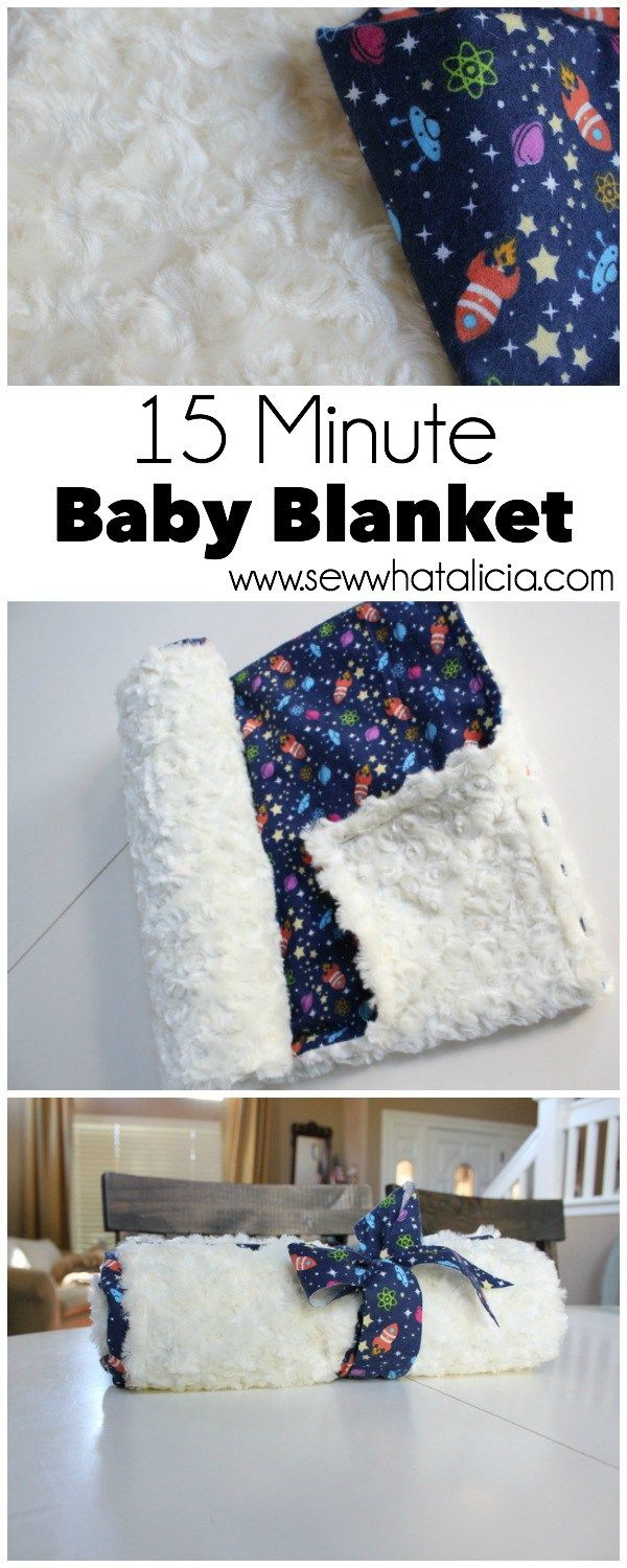 15 Minute Baby Blanket | www.sewwhatalicia.com