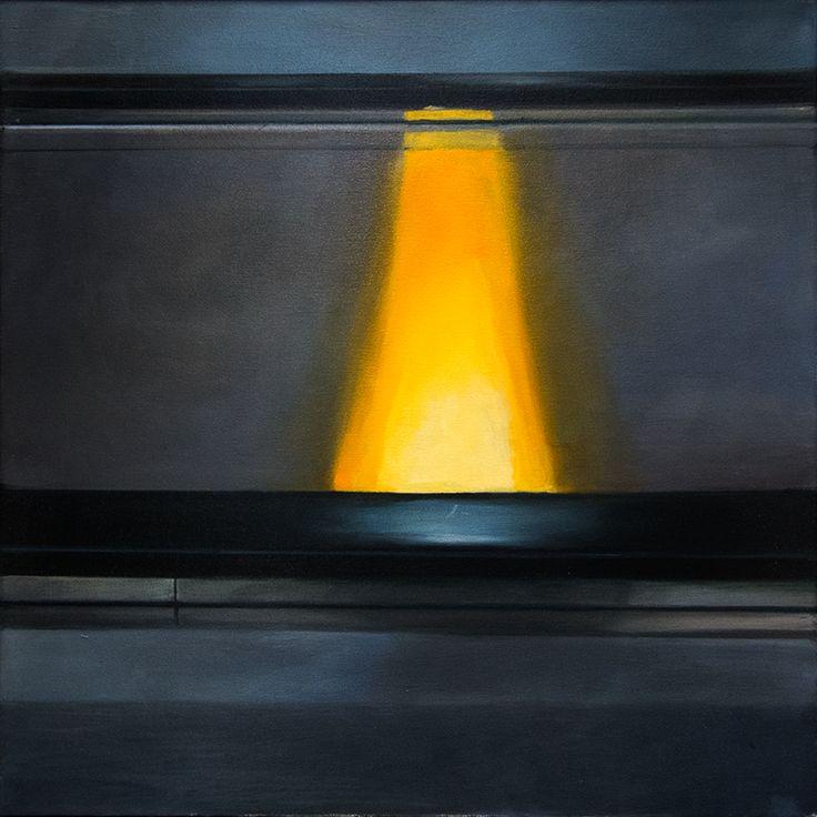 Před výstupem, Oil on canvas, 50x50cm