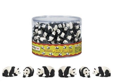 Mini Pandas at theBIGzoo.com. Perfect for cupcake toppers, party favors, cake decorations, table confetti, game pieces, dioramas, craft projects, and much more.