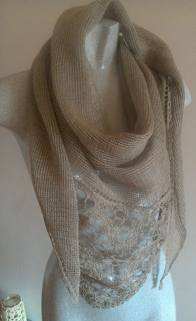 lamanu lana: uno scialle in puro lino