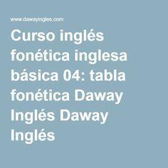 Curso inglés fonética inglesa básica 04: tabla fonética Daway Inglés Daway Inglés