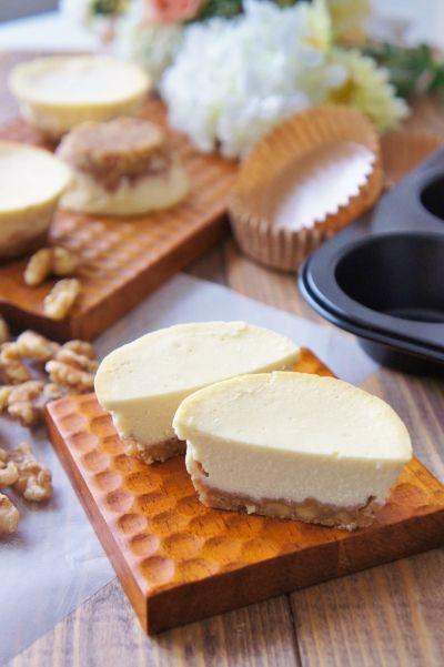 「大人の糖質オフ&グルテンフリー くるみでヘルシーチーズケーキ」nyonta   お菓子・パンのレシピや作り方【cotta*コッタ】