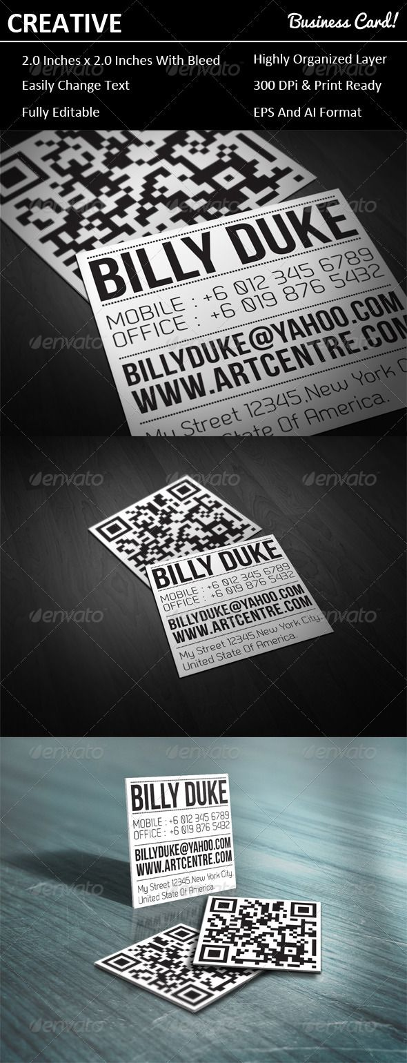 8 best We need a new business card images on Pinterest | Qr code ...