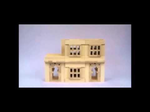 Die Kapla Alternative - Maple Bauklötzchen aus kanadischem Ahorn Holz - YouTube