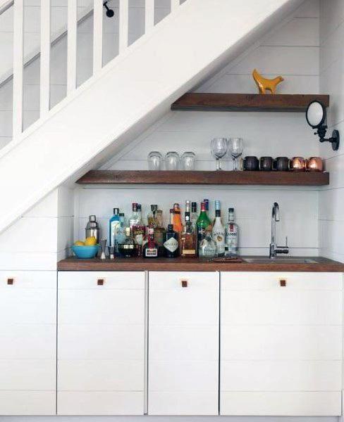 Top 70 Best Under Stairs Ideas: Top 70 Best Home Wet Bar Ideas