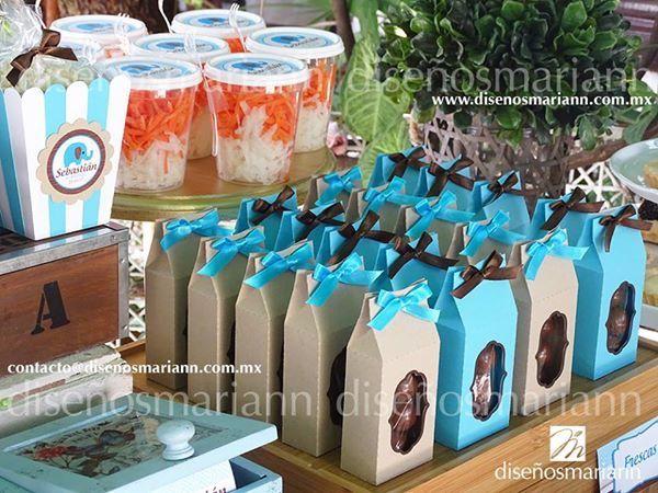 Mesa de dulces azul y café/ Blue and brown candy table/ mesa de dulces bautizo niño/ vintage candy bar