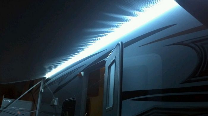 I have noticed an emerging trend among the full time RVers who love their gadgets! And I am in complete agreement on this one! RV awning lights, especially