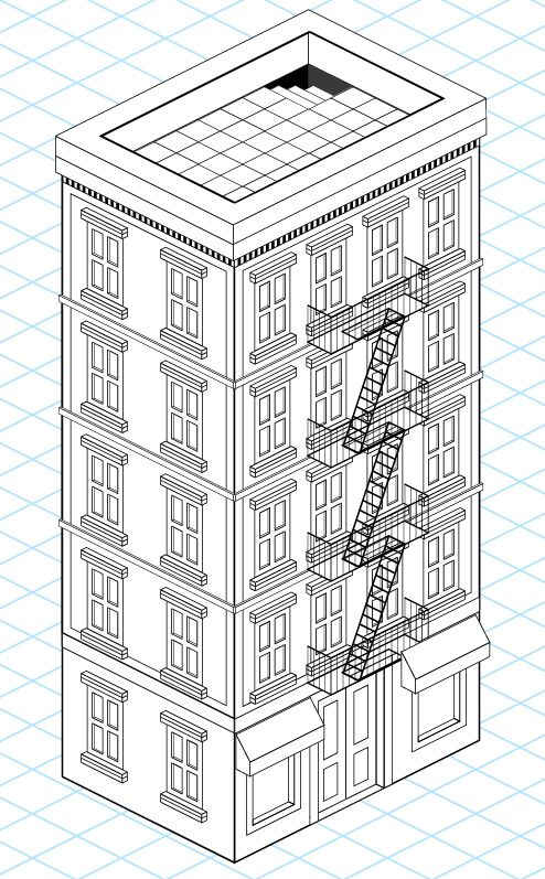 creating an isometric building in Illustrator