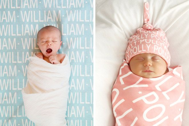 All wrapped up: personalised baby blankets
