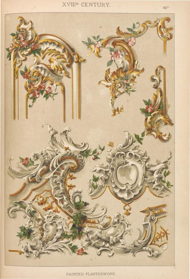 http://archive.org/stream/HistoricStylesOfOrnament/Historic_Styles_of_Ornament#page/n286/mode/1up - 1898 book