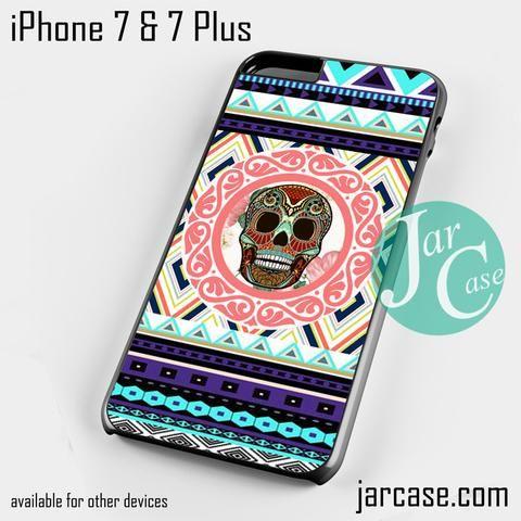 Skull Aztec Chevron 1 Phone case for iPhone 7 and 7 Plus