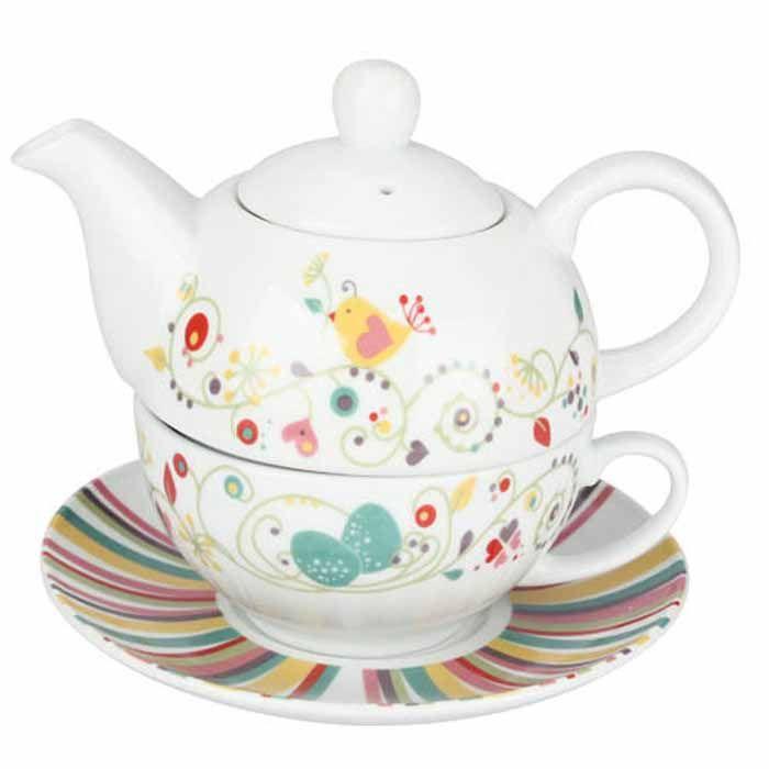 $70 Jogo de Chá em Porcelana Tea For One :: Que Cozinha!