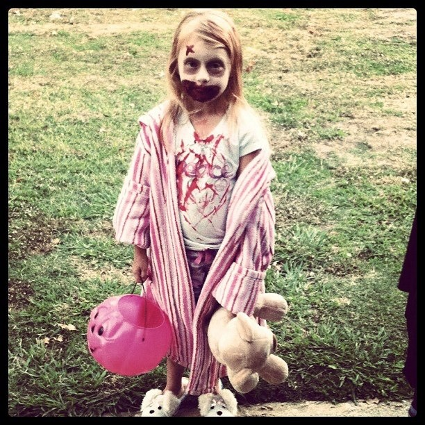 AMC's The Walking Dead. Great costume! This will be Zoey when she is older!
