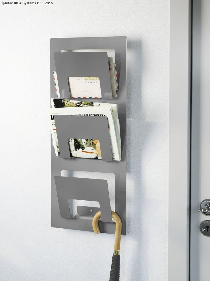 Păstrează ziarele și revistele aproape de intrare. Așa, vei ști tot timpul unde să le găsești.