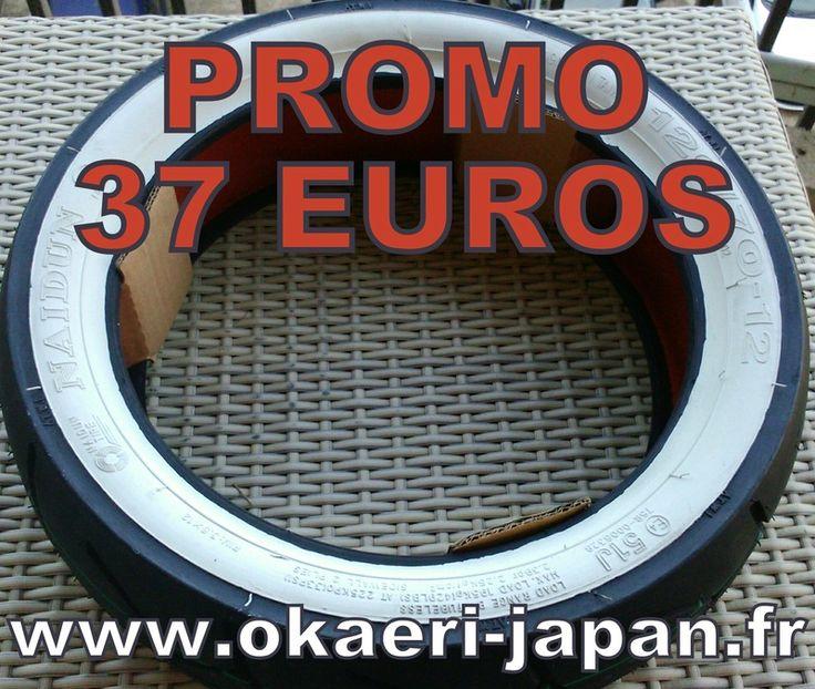 "Mini4temps Pièces | Promo pneu 120/70x12"" flancs blancs 37€"