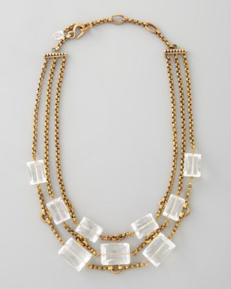 Three-Strand Rock Crystal Necklace by Stephen Dweck at Bergdorf Goodman.