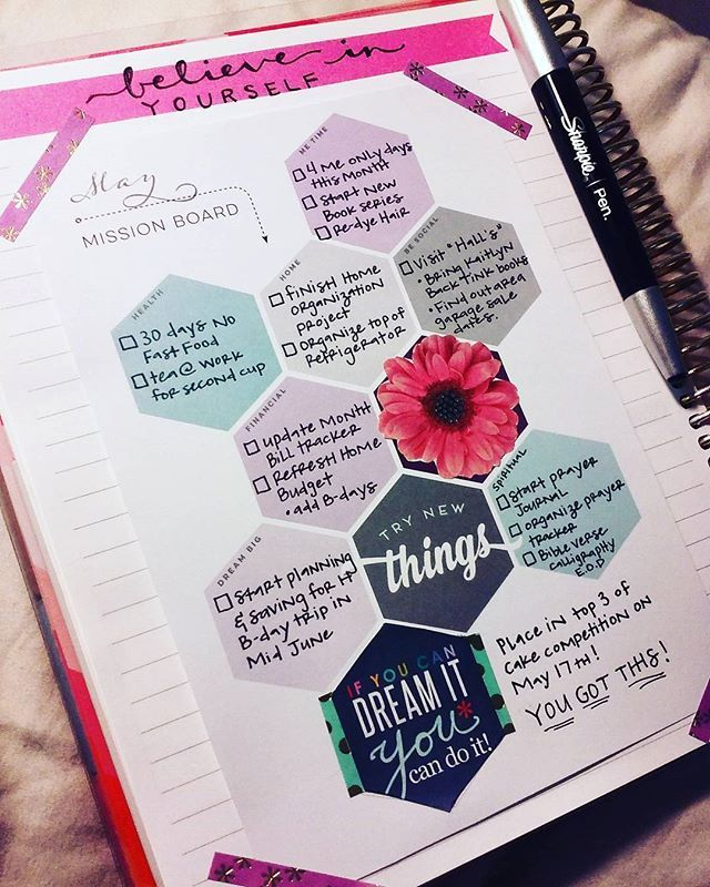 So, I have not been using the @inkwellpress monthly goal sheets as much as I…