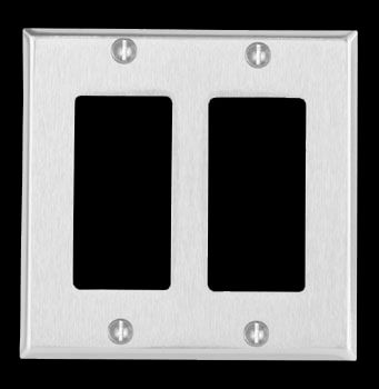 switchplate brushed stainless steel double gfi shop u003e http