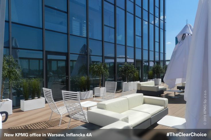 Our 400 square meter #outdoor #patio is open to all employees for #work and #rest #KPMG #newoffice #inflancka #Warsaw #Poland #workspace #TheClearChoice
