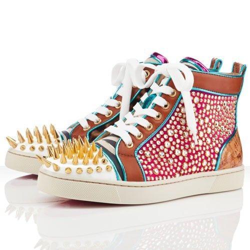 taille 40 30e24 95d59 Chaussure Louboutin Pas Cher Femme No Limit Flat Multicolore ...