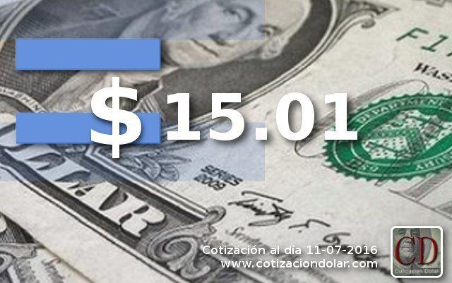 La divisa norteamericana abre la semana sin variantesy se vendea $ 15.01 en promedio en bancos y casas de cambio de la ciudad. Más información sobre la cotización actualizada del dolar hoy Para consultar cotizaciones anteriores: Dolar histórico