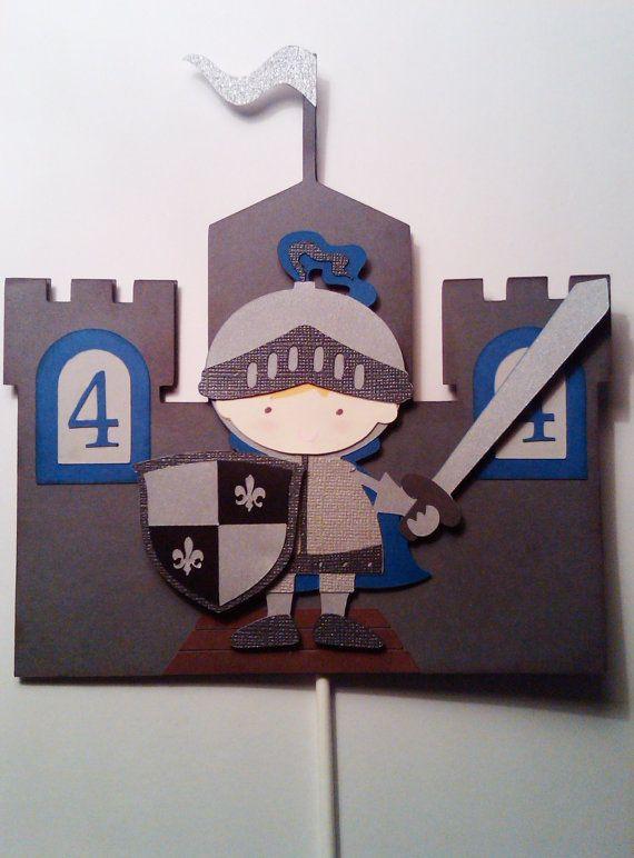 Caballero medieval centro de mesa de por ThePaperPartyBox en Etsy
