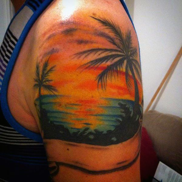 The 25 best sunset tattoos ideas on pinterest sunrise for Beach sunset tattoos