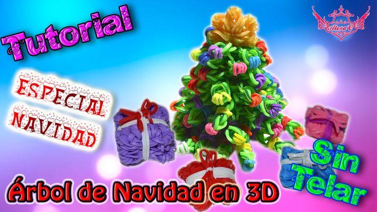 ♥ Tutorial[ESPECIAL NAVIDAD]: Árbol de Navidad en 3D (sin telar) ♥