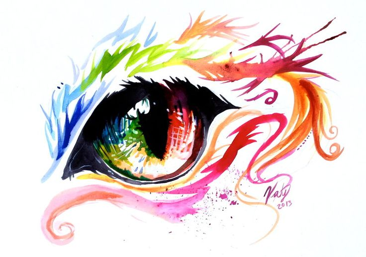 Rainbow Cat Eye by Lucky978.deviantart.com on @deviantART