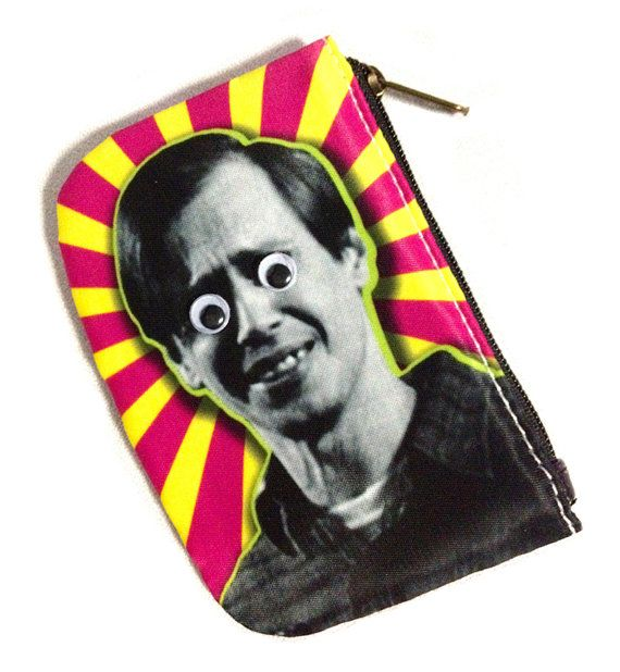Steve buscemi coin purse with googly eye embellishment