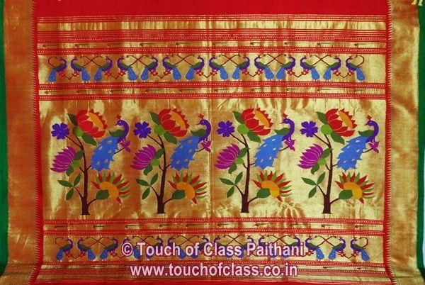Red Paithani Saree.