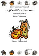 Free Printable Halloween Certificates, Halloween cards, Jack o' Lantern Awards, Certificate Maker, Halloween borders and backgrounds for awards