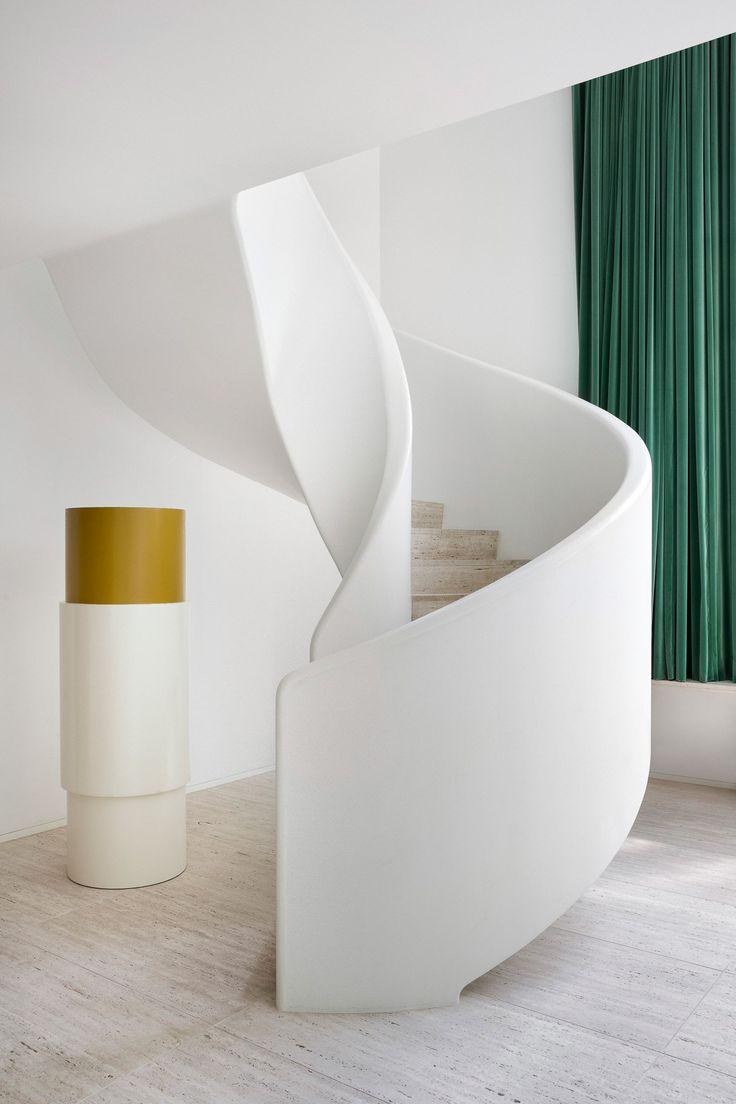 1772 Best Design Interiors Images On Pinterest Interior Staircase Light Installation By Pslab Yatzer 1930s Villa Kaplansky In Antwerp Belgium Restored B Architecten