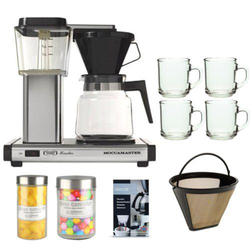 Technivorm Moccamaster Coffee Maker With Glass Carafe Brushed Silver : 1000+ images about Coffeemarkers on Pinterest Stainless steel, Cappuccino machine and Glass ...