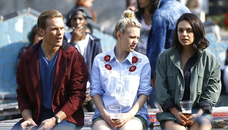 Sam Heughan Films 'Spy Who Dumped Me' Scenes in Amsterdam with Mila Kunis & Kate McKinnon! | Kate McKinnon, Mila Kunis, Sam Heughan : Just Jared